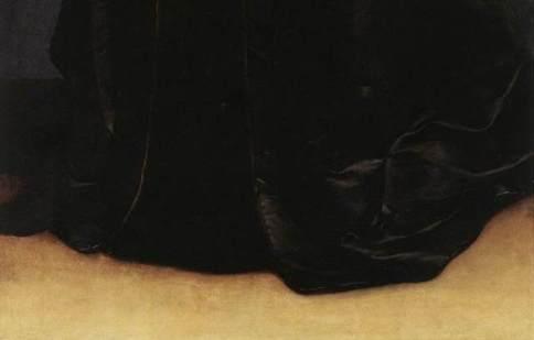 Christine, la robe et le sol