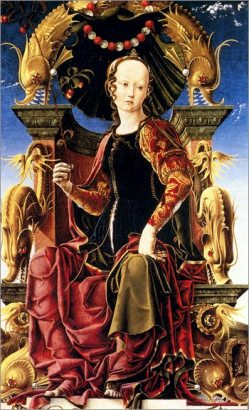 cosme tura_La muse Erato 1458-1460, Londres, Ng