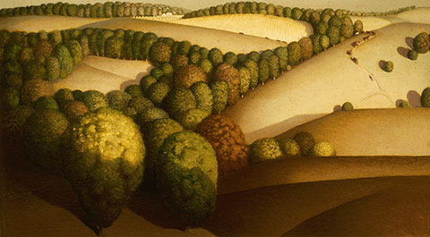 Grant Wood near sundown