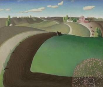 Grant Wood Spring plowing 1929