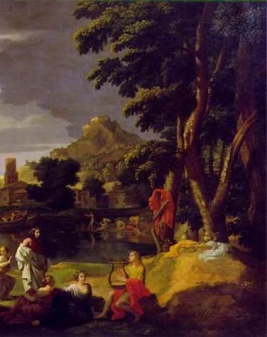 Orphee Et Eurydice De Nicolas Poussin De La Peinture